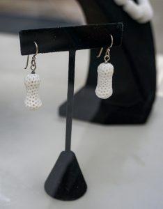 Ghost Bones Earrings by Debra Evans-Paige